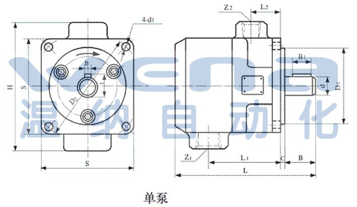 叶片泵是中压双作用定量泵,适用于金属切削机床及其它机械的中,低压图片