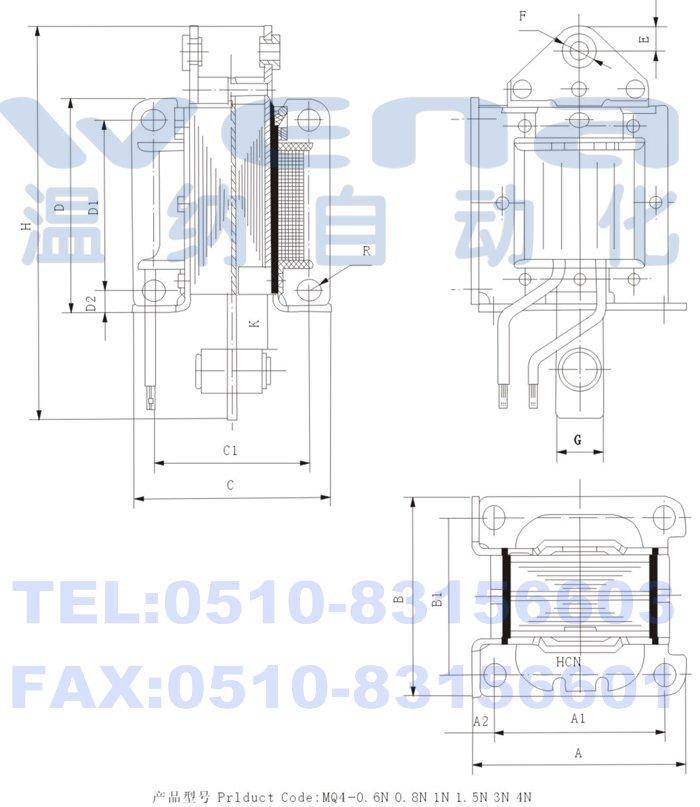 用途  本系列电磁铁适用于交流50h/60hz,电压至380v的控制电路中.