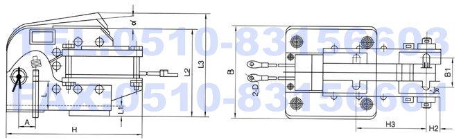 MDZ1-300,MDZ1-200,MDZ1-100,单相制动电磁铁,温纳制动电磁铁,电磁铁生产厂家 适用范围 MZD1系列单相制动电磁铁(以下简称电磁铁)适用于交流50Hz额定电压到380V的电路中,主要作为匹配TJ2系列闸瓦制动器的动力装置。 型号及其含义  主要技术参数 电磁铁的工作制有间断长期工作制及反复短时工作制两种类型,额定工作电压为交流50Hz、220V及380V两种。 长期工作制即TD=100%,其每小时动作次数不超过20次,反复短时工作即TD=40%,每小时操作次数不超过300次。 在正