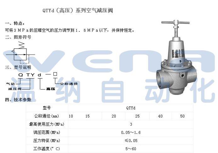 直销qtyd-10,qtyd-50,高压空气减压阀图片